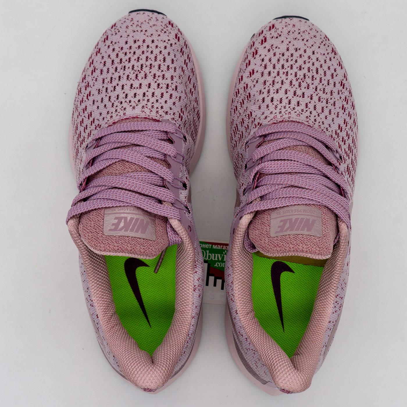 фото back Женские кроссовки для бега Nike Zoom Pegasus 35 серебро с розовым. Топ качество! back