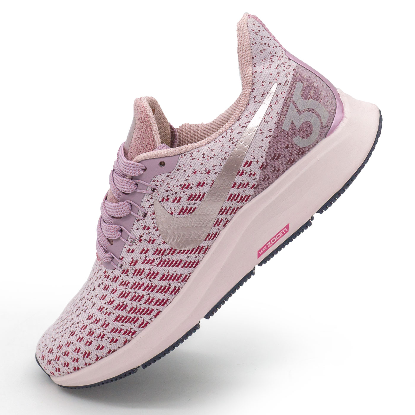 фото main Женские кроссовки для бега Nike Zoom Pegasus 35 серебро с розовым. Топ качество! main