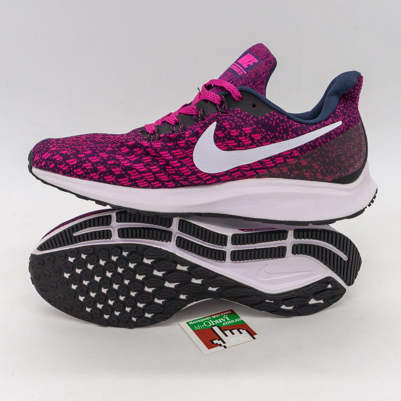 фото front Женские кроссовки для бега Nike Zoom Pegasus 35 бордовые. Топ качество! front