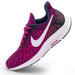 фото Женские кроссовки для бега Nike Zoom Pegasus 35 бордовые. Топ качество!