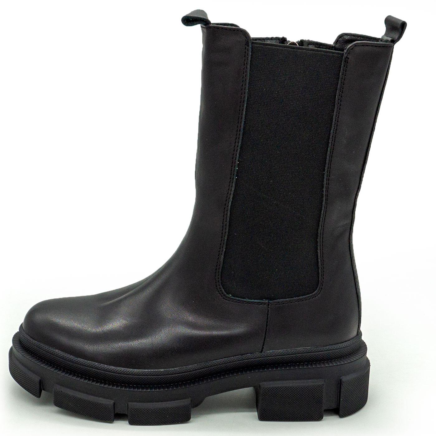 фото main Зимние черные женские ботинки в Dr. Martens на платформе - 001 main