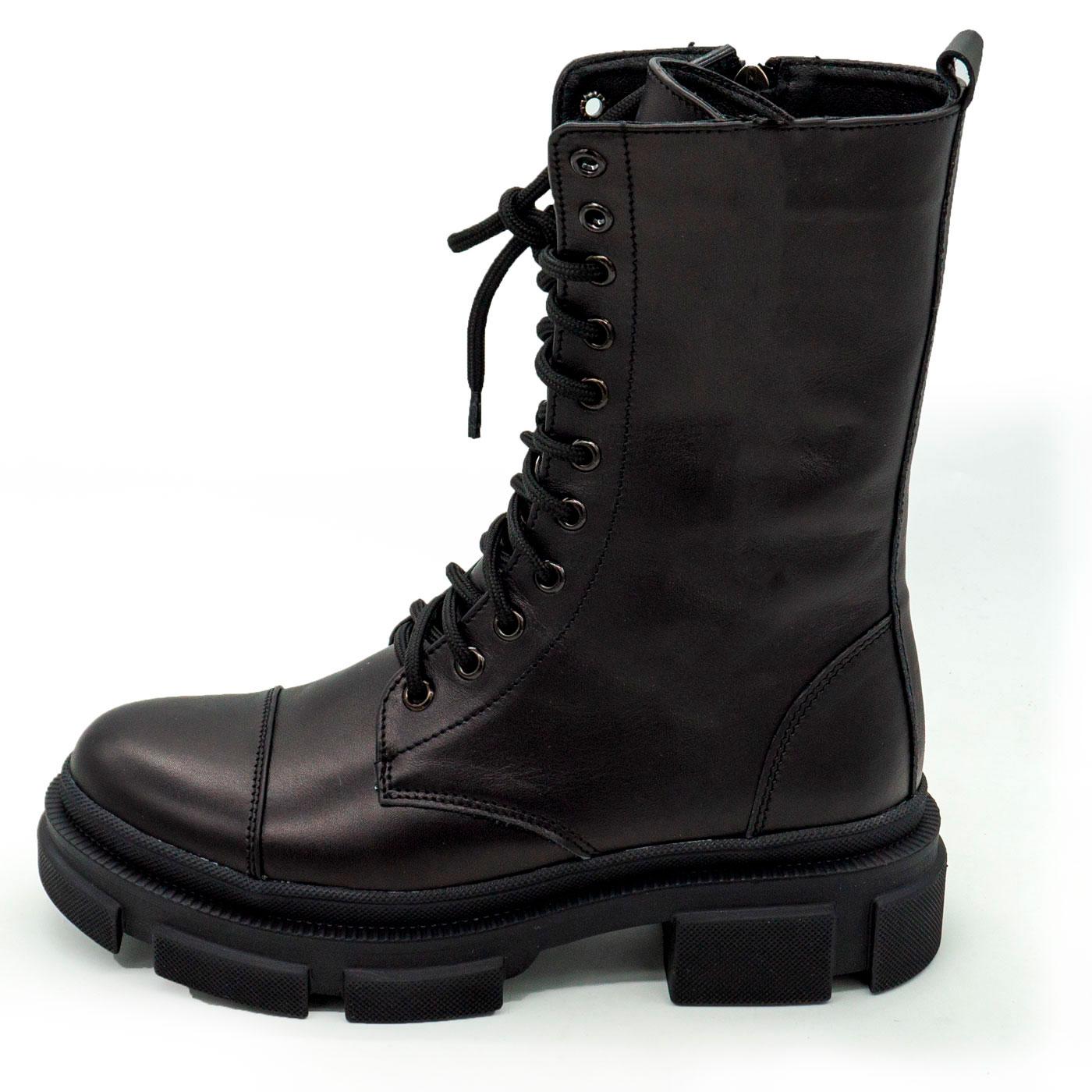 фото main Зимние черные женские ботинки в Dr. Martens на платформе - 0020 main