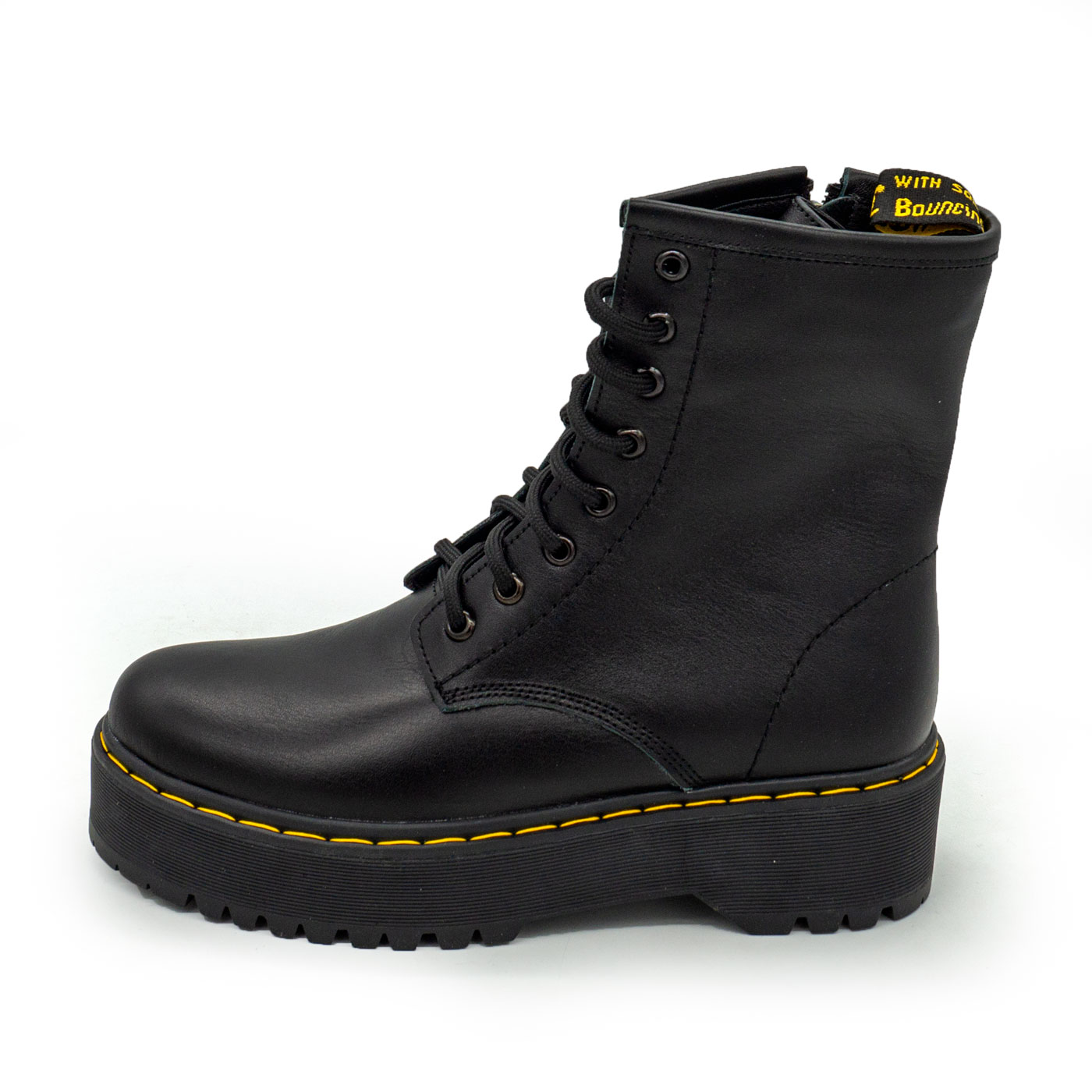фото main Зимние черные женские ботинки в Dr. Martens на платформе - 003 main