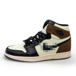 фото Высокие черно белые хаки кроссовки Nke Air Jordan 1 High. Топ качество!
