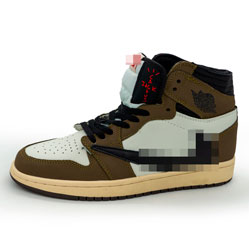 фото Высокие кроссовки Nke Air Jordan 1 Jack Cactus хаки . Топ качество!