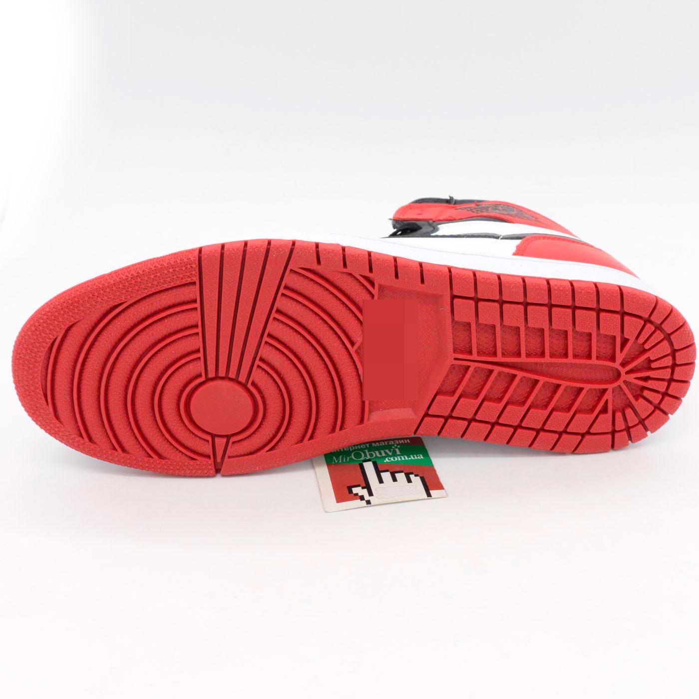 фото back Высокие белым и красным кроссовки Nke Air Jordan 1. Топ качество! back