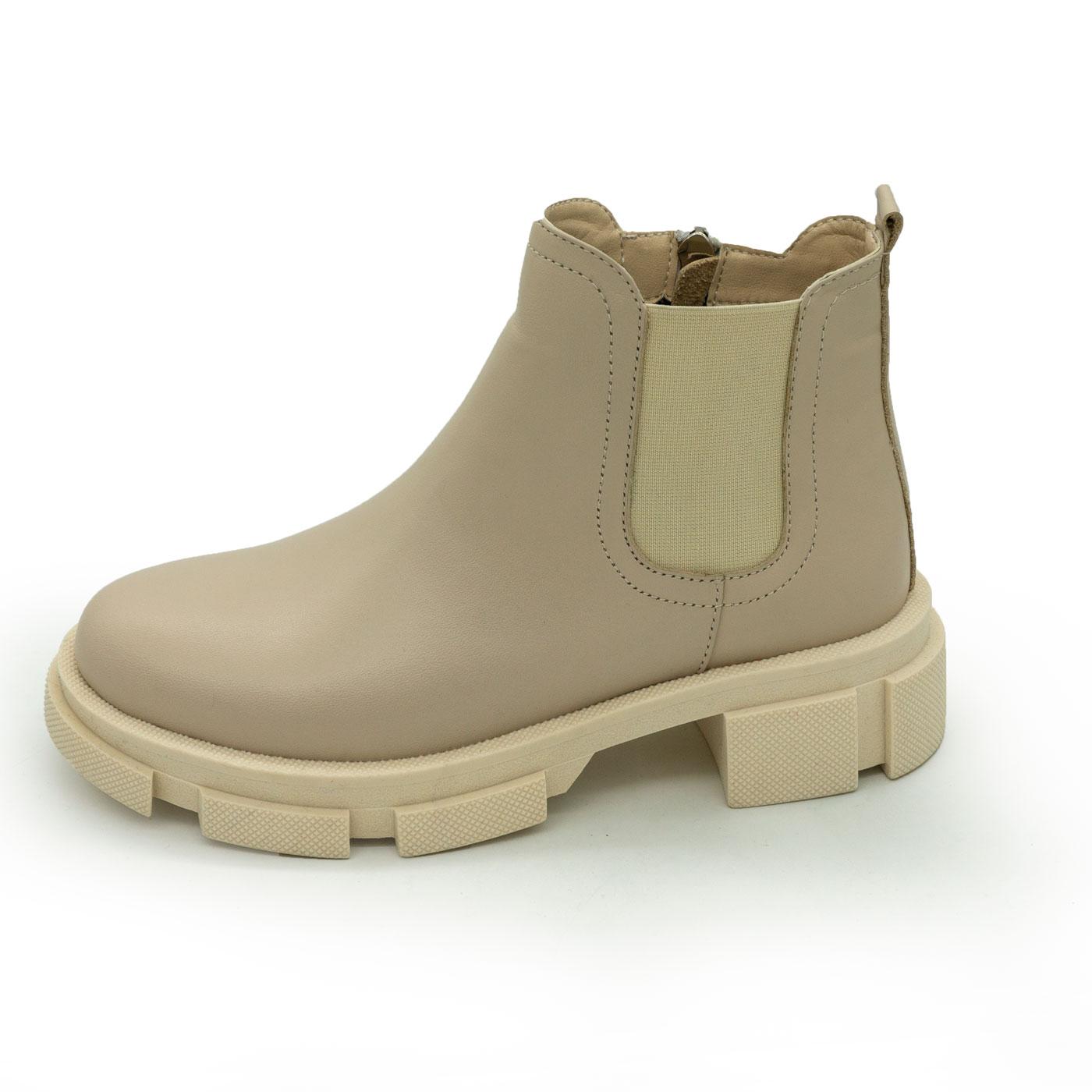 фото main Бежевые женские туфли Dr. Martens chelsea, натуральная кожа main