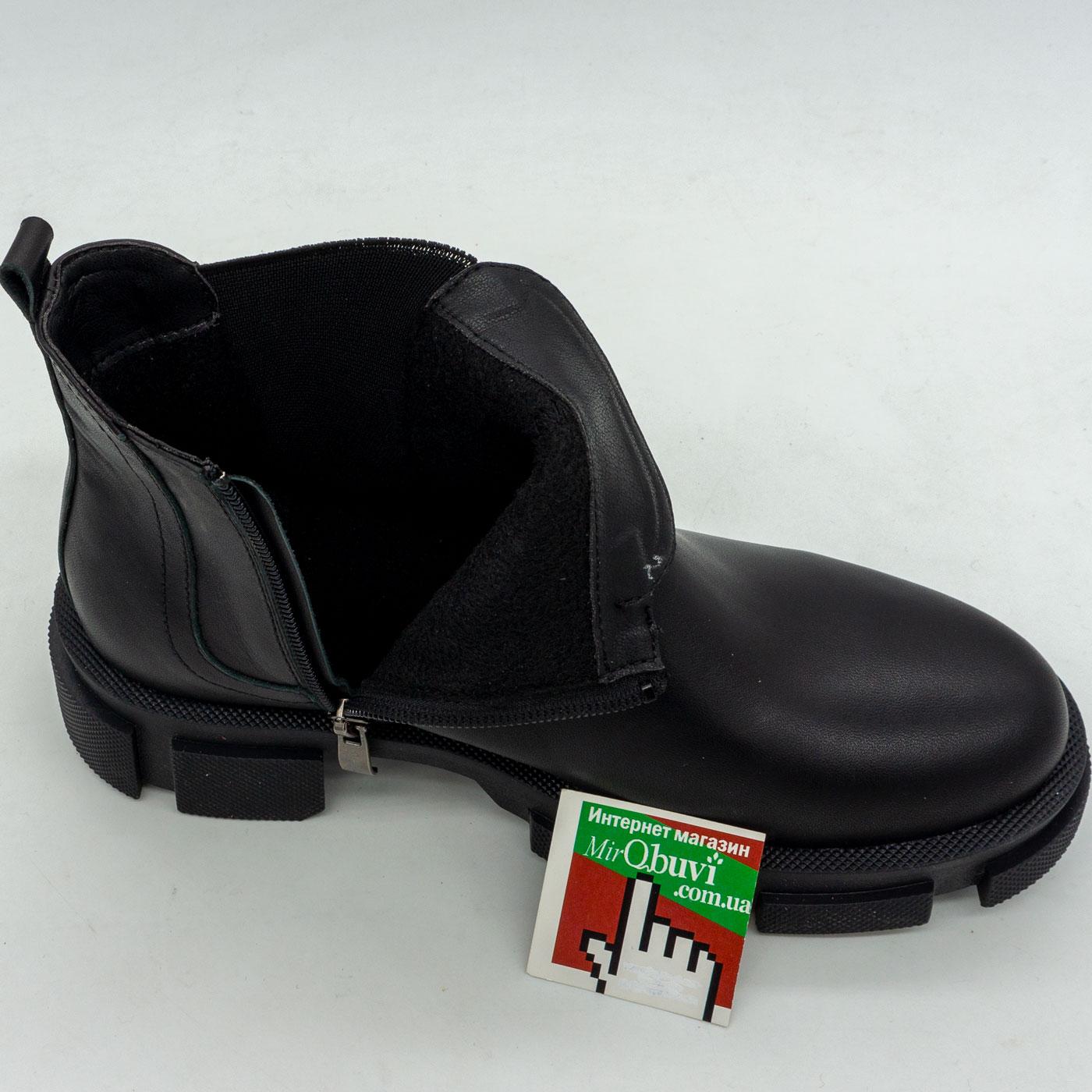 фото back Черные женские туфли Dr. Martens chelsea, натуральная кожа back