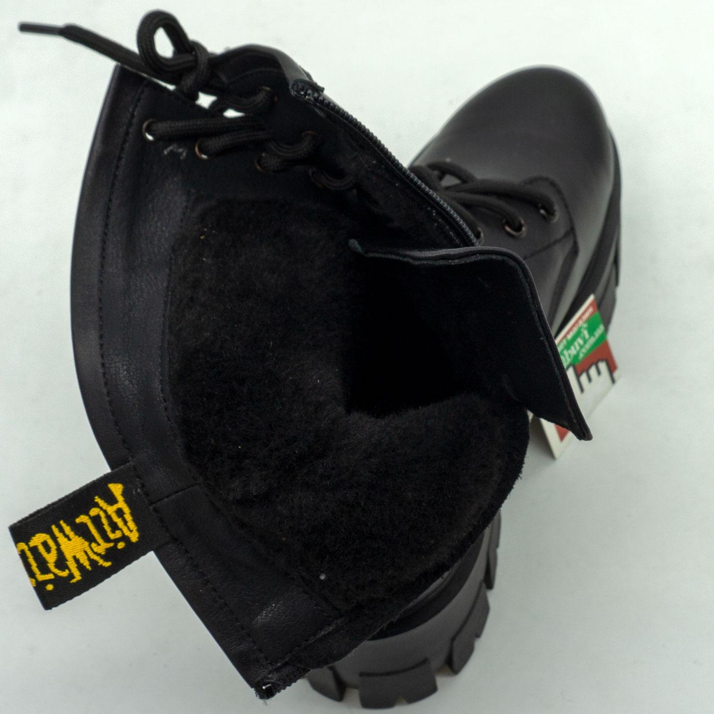 фото back Зимние черные женские ботинки в Dr. Martens на платформе - 004 back
