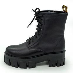 фото Зимние черные женские ботинки в Dr. Martens на платформе - 004