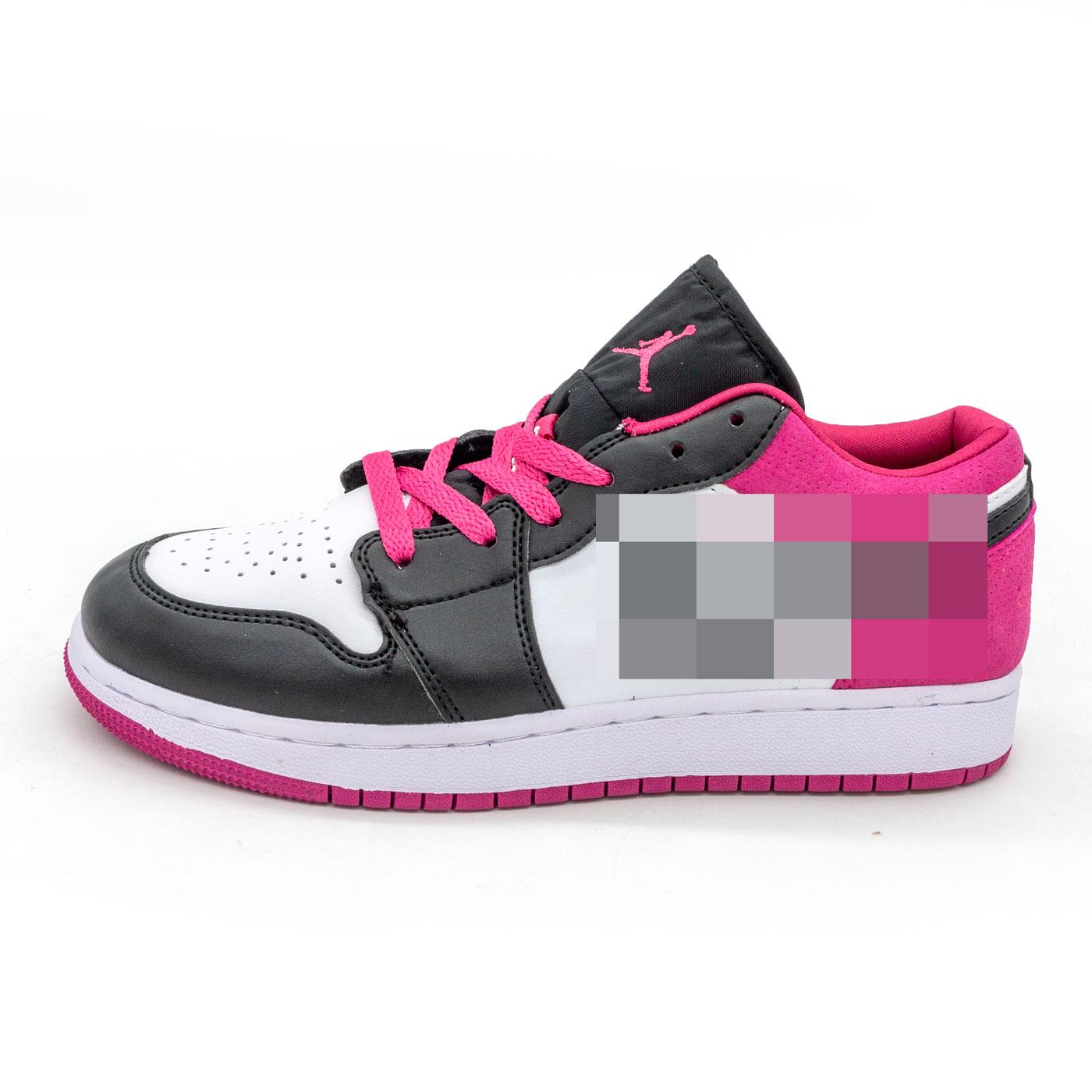 фото main Низкие черные c фиолетовым кроссовки Nke Air Jordan 1 main