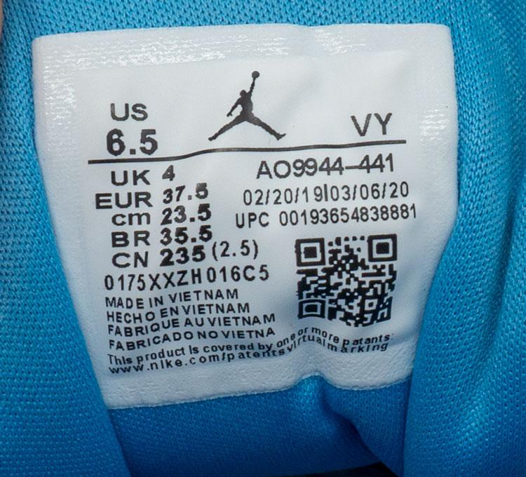 большое фото №6 Низкие бело голубые кроссовки Nke Air Jordan 1