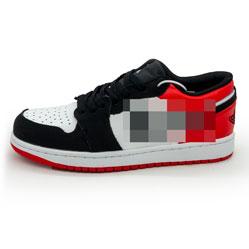 фото Низкие черные c красным кроссовки Nke Air Jordan 1