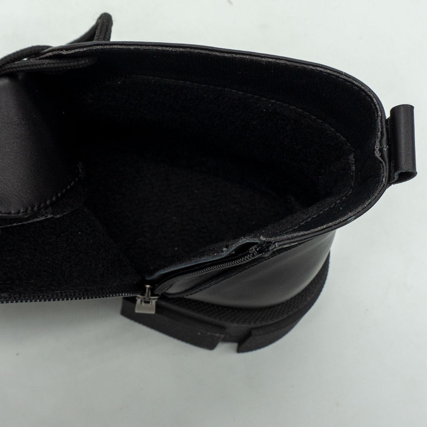 фото back Черные женские туфли Dr. Martens chelsea, натуральная кожа 100 back