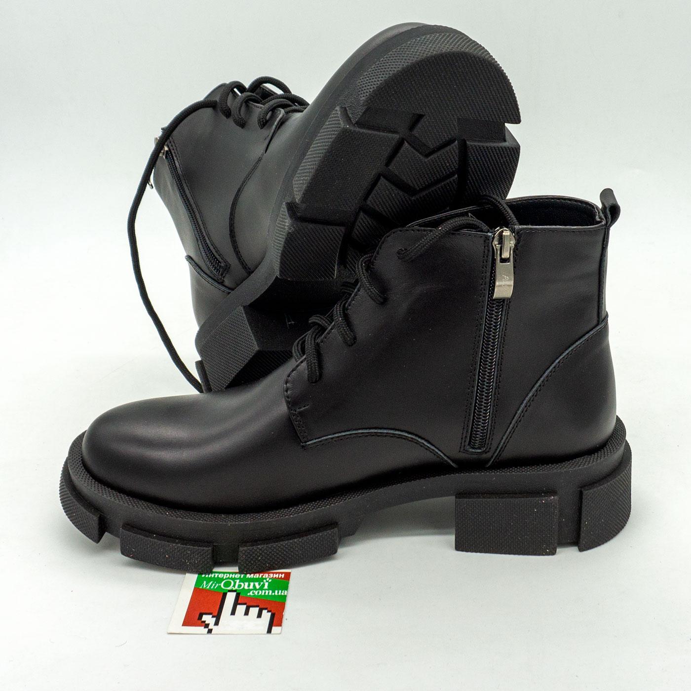 фото front Черные женские туфли Dr. Martens chelsea, натуральная кожа 100 front