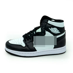 фото Высокие черно белые кроссовки Nke Air Jordan 1