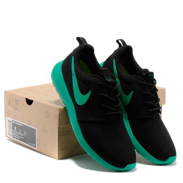 фото back Nike Roshe Run черн берюзовые back