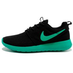 фото Nike Roshe Run черн берюзовые