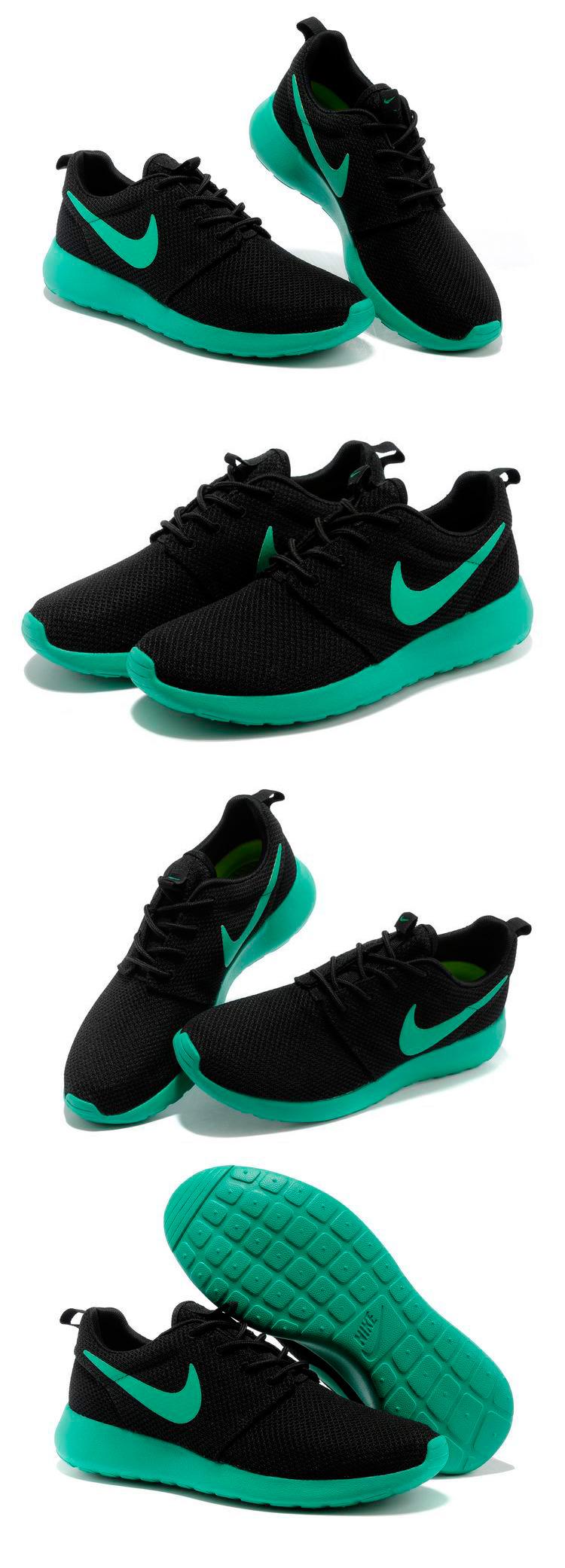 большое фото №6 Nike Roshe Run черн берюзовые