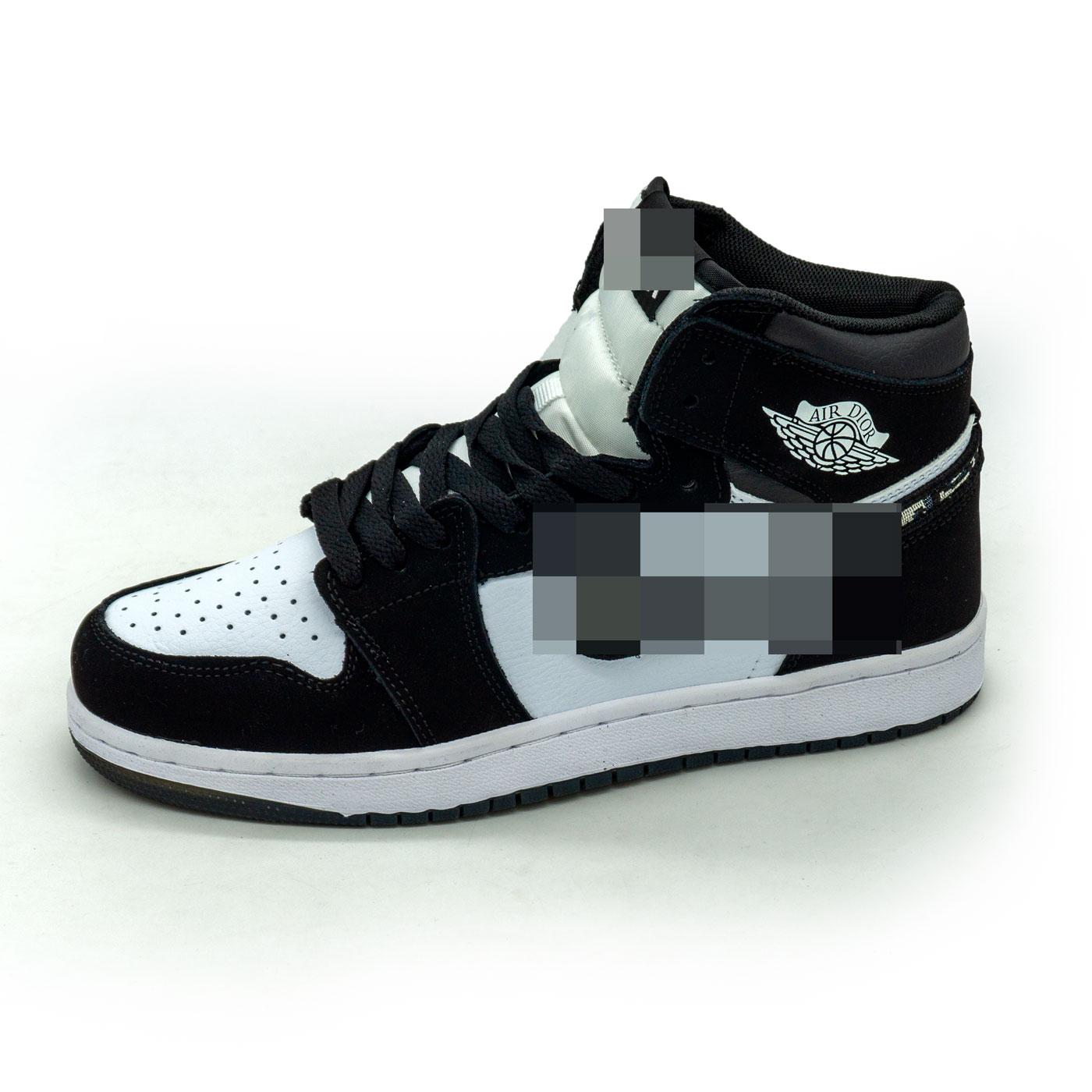 фото main Высокие черно белые кроссовки Nke Air Jordan 1 Dior main