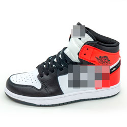 фото Высокие черно белое красные кроссовки Nke Air Jordan 1 Dior