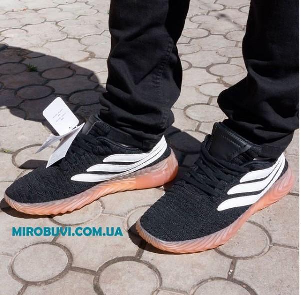фото - Кроссовки Adidas Sobakov черные. Топ качество! на ноге.