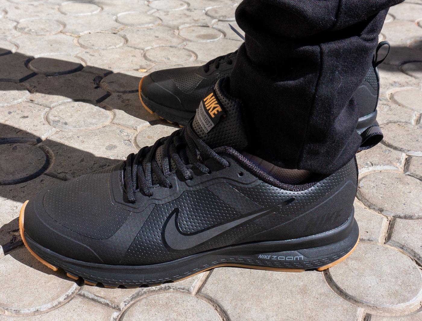 фото - Мужские осенние черные кроссовки Nike Air Relentless 7 MSL - Топ качество! на ноге.