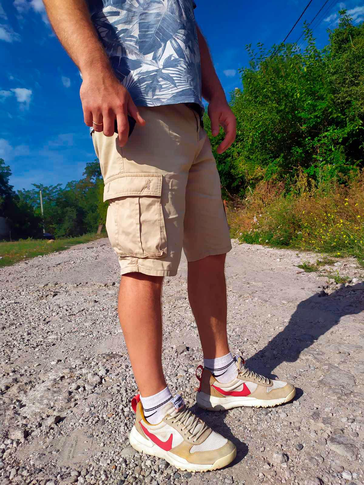 фото - Мужские кроссовки Nike Mars Yard 2.0 желтые. Топ качество! на ноге.